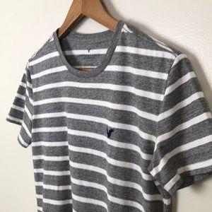 AMERICAN EAGLE AE Striped Cotton Short Sleeve